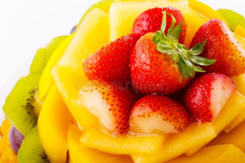 Cierre de la tarta de la fruta para arriba imagen de archivo libre de regalías