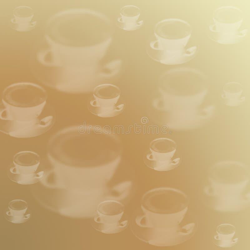 Cierre de la taza del capuchino del latte del café encima de la textura amarilla beige fotos de archivo libres de regalías