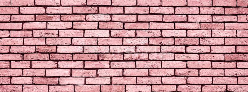 Cierre de la textura de la pared de Coral Brick para arriba imagen de archivo