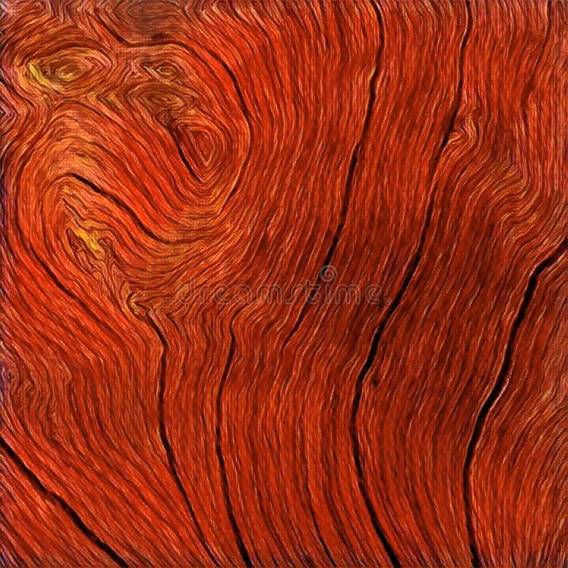 Cierre de madera de la textura encima de la foto Fondo de madera rojo Ejemplo digital de la madera rústica ilustración del vector