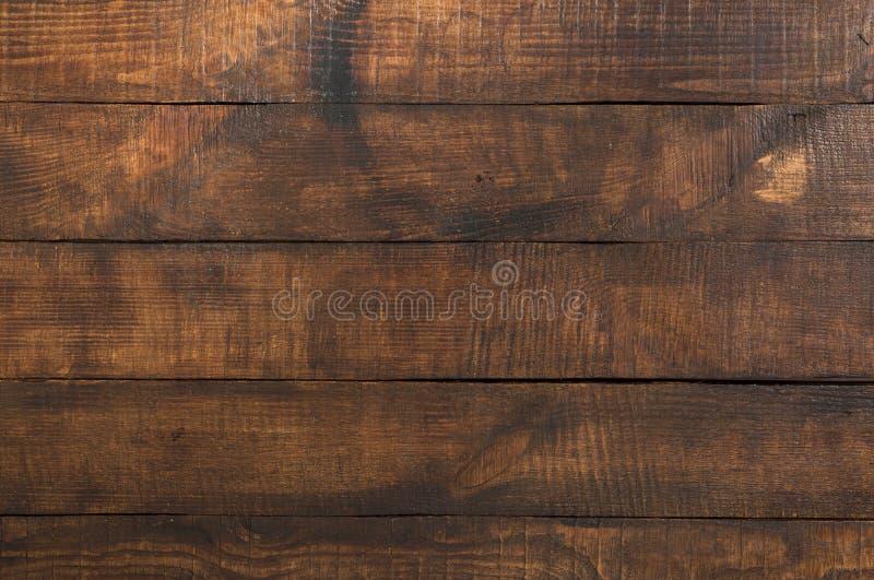 Cierre de madera de madera del fondo del vintage de Brown para arriba imagen de archivo libre de regalías