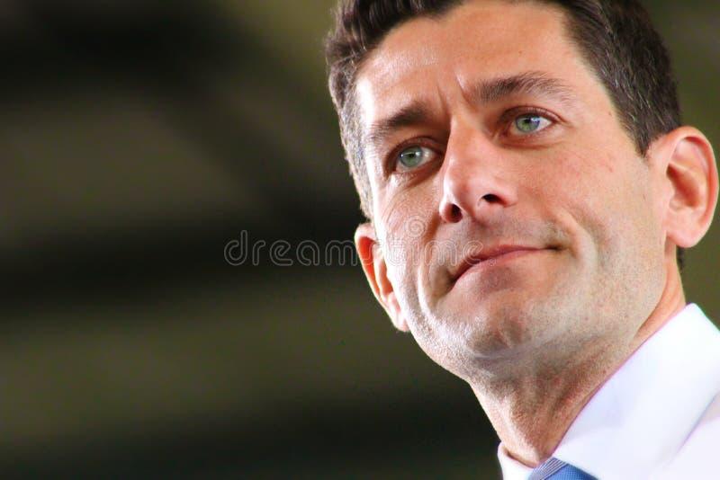 Cierre de Paul Ryan para arriba imagen de archivo