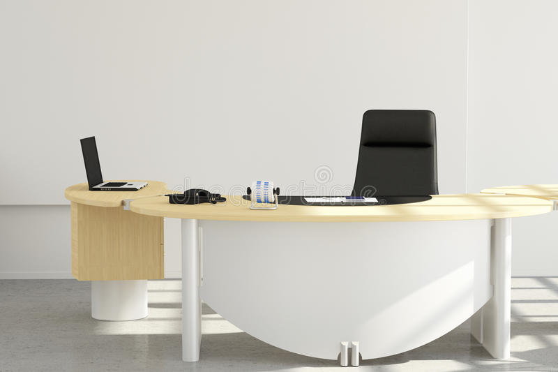 Cierre del escritorio de oficina para arriba stock de ilustración