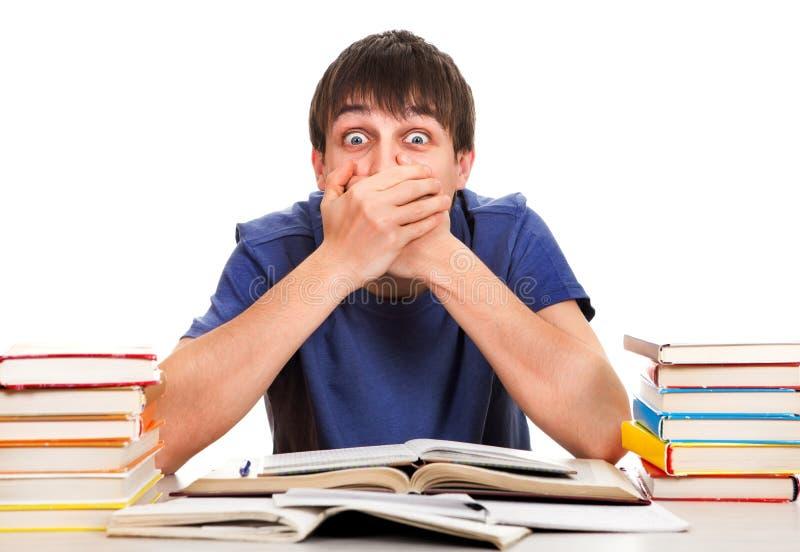 Cierre del estudiante su boca foto de archivo libre de regalías