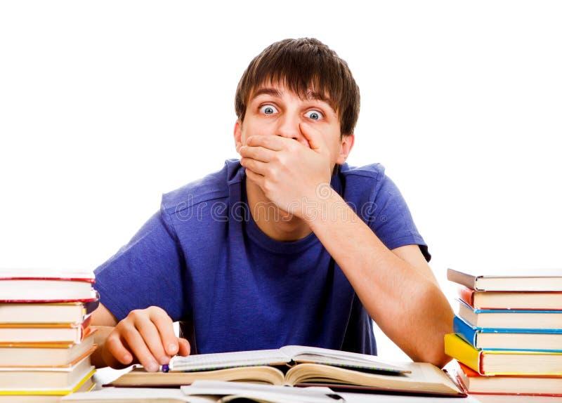 Cierre del estudiante una boca imagen de archivo libre de regalías