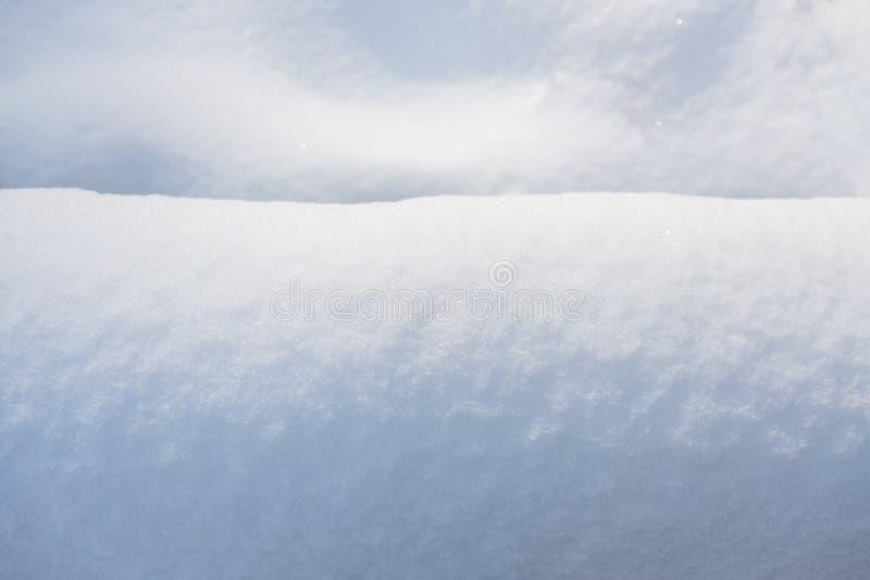 Cierre del fondo de la nieve para arriba imagen de archivo