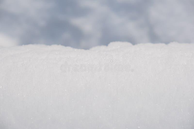 Cierre del fondo de la nieve para arriba foto de archivo libre de regalías
