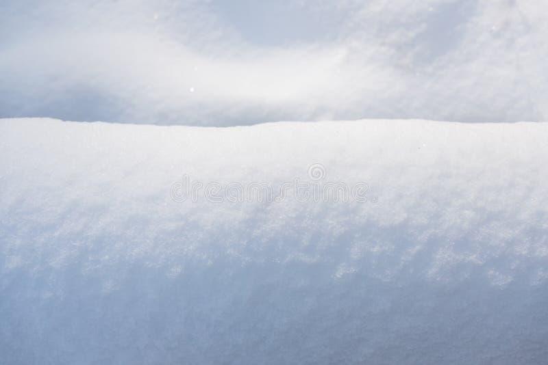 Cierre del fondo de la nieve para arriba fotos de archivo libres de regalías