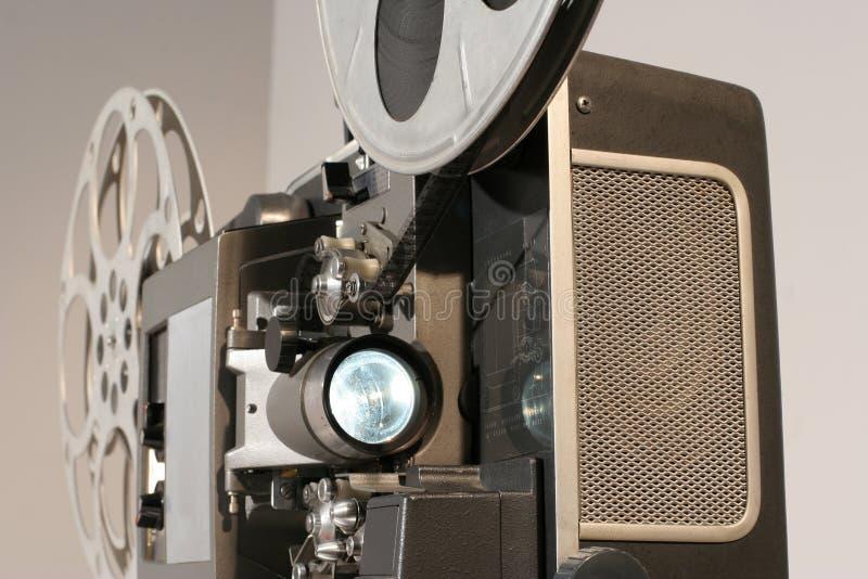 Cierre del frente del proyector de película foto de archivo libre de regalías