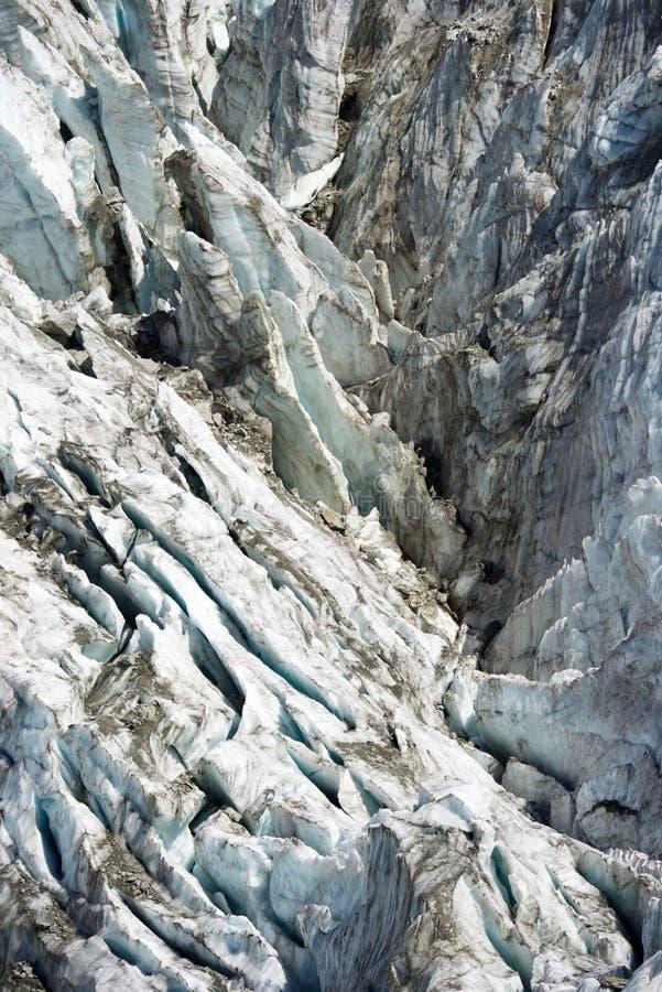 Cierre del glaciar de Argentiere para arriba fotos de archivo