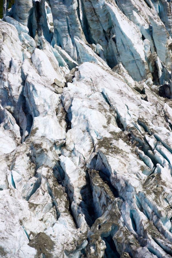 Cierre del glaciar de Argentiere para arriba foto de archivo libre de regalías