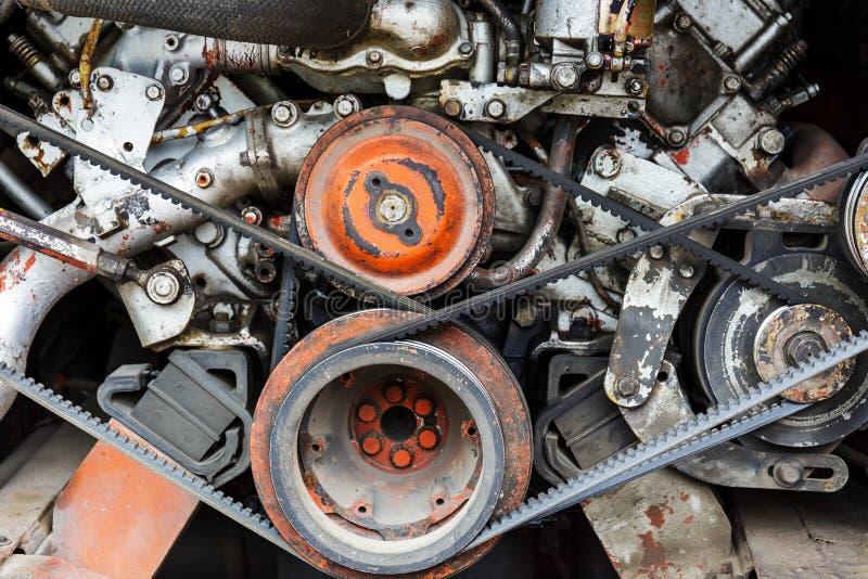 Cierre del motor de vehículo para arriba fotos de archivo