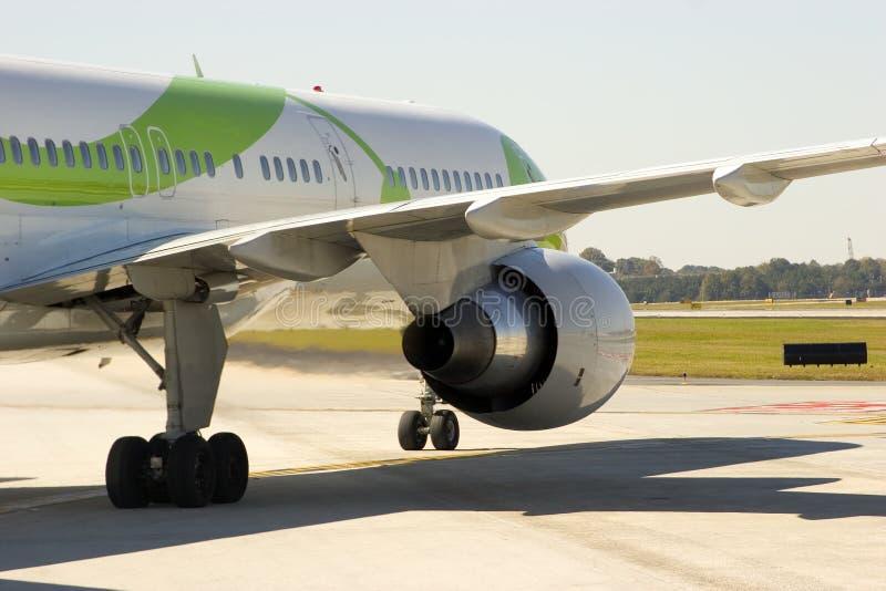 Cierre del motor del aeroplano imagen de archivo
