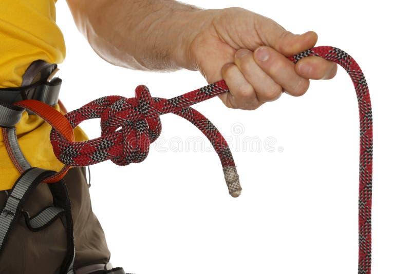 Cierre del nudo de la cuerda para arriba imagen de archivo libre de regalías