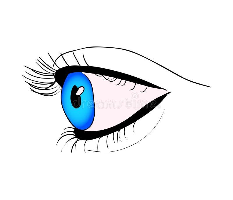 Cierre del ojo humano encima del diseño del icono del símbolo del vector Illustra hermoso libre illustration
