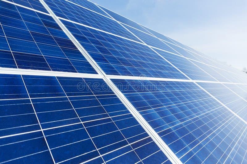 Cierre del panel solar para arriba imagen de archivo libre de regalías