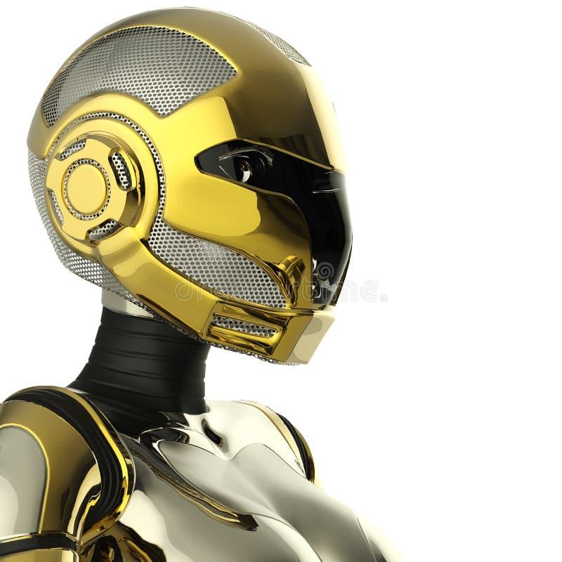 Cierre del retrato del soldado del Bot para arriba libre illustration