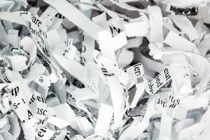 Cierre destrozado del papel para arriba foto de archivo libre de regalías