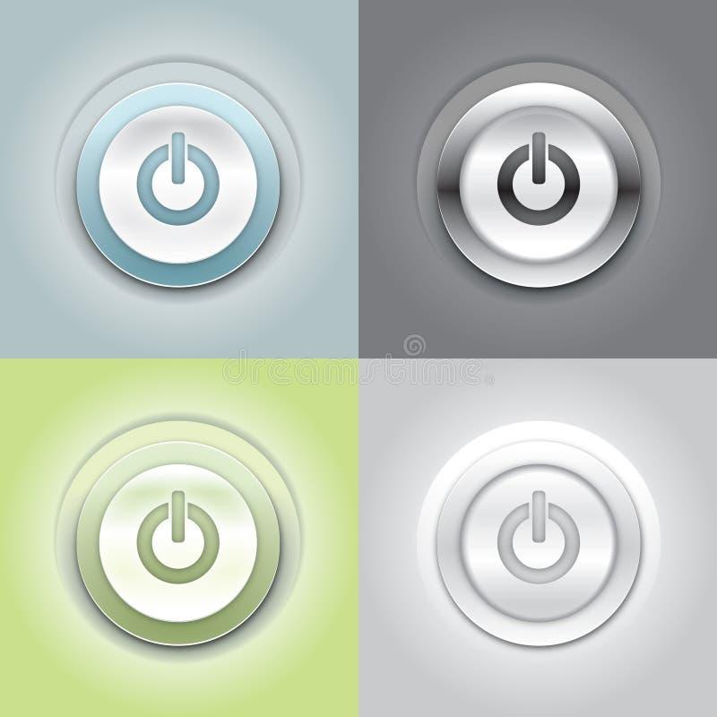 Cierre el botón ilustración del vector