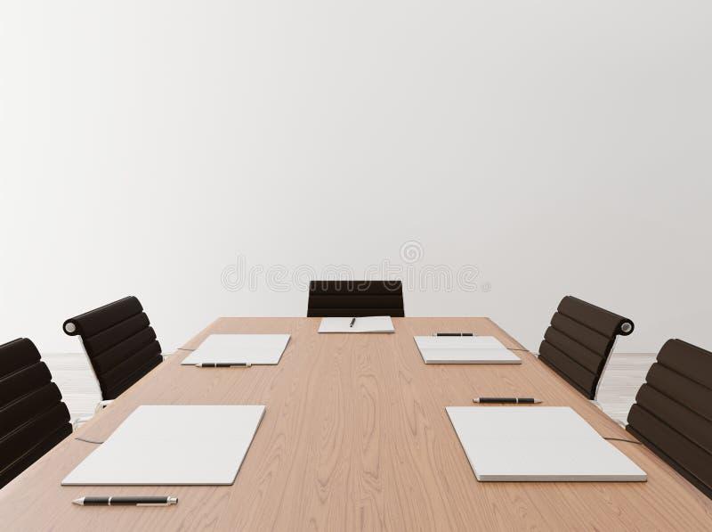 Cierre encima de la sala de reunión vacía imagen de archivo