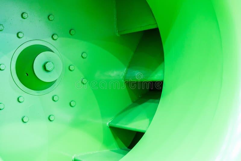 Cierre encima del impeledor o del propulsor del ventilador centrífugo industrial grande foto de archivo