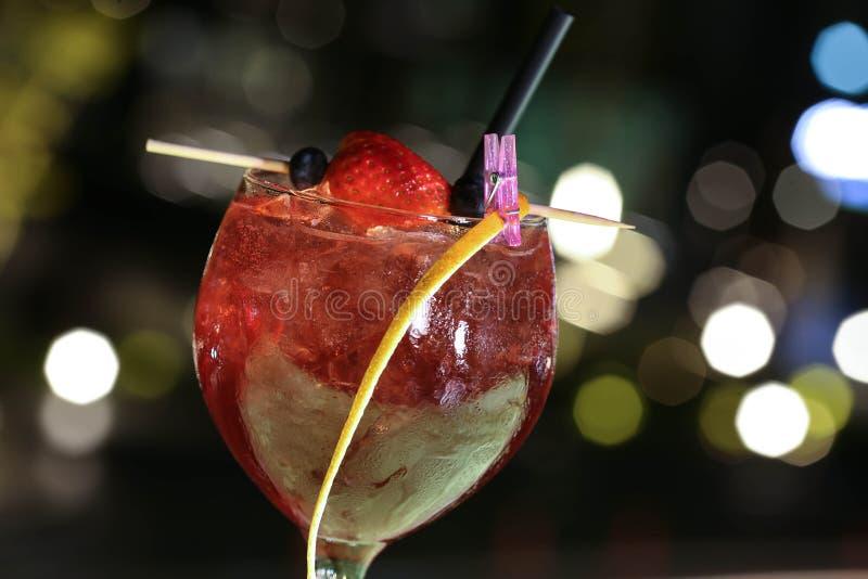 Cierre exótico de la bebida para arriba fotografía de archivo libre de regalías