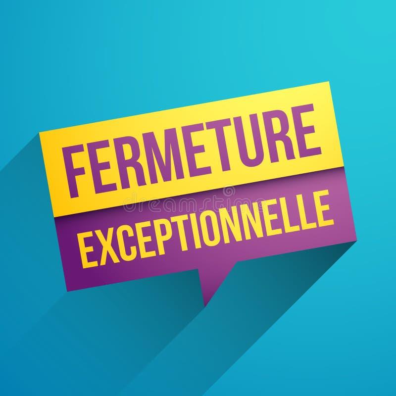 Cierre excepcional en francés ilustración del vector