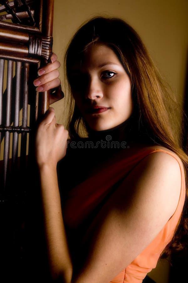 Cierre formal anaranjado para arriba fotos de archivo libres de regalías