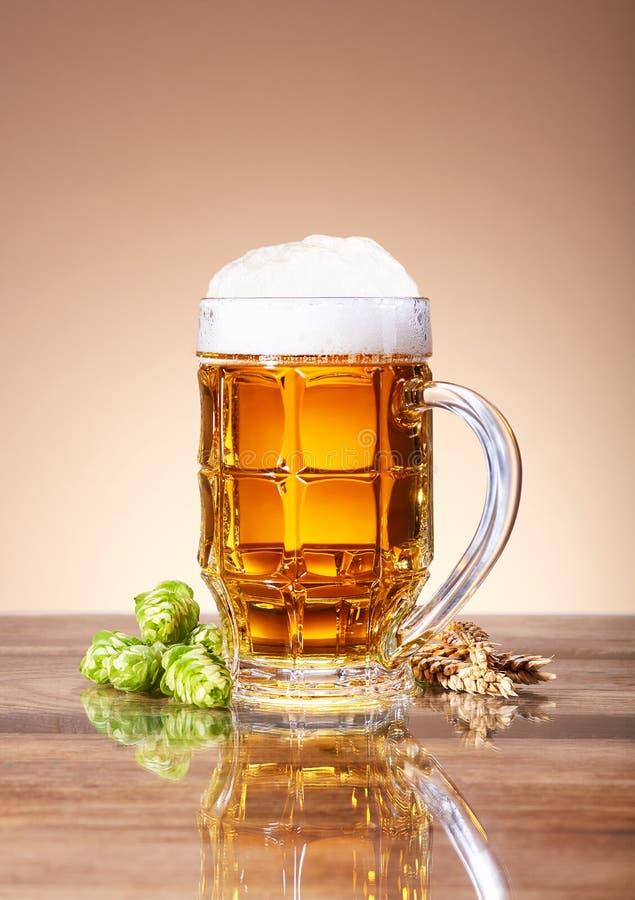 Cierre fresco de la cerveza para arriba fotografía de archivo libre de regalías