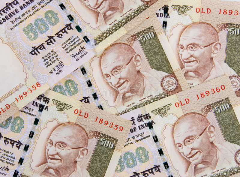 Cierre indio del dinero en circulación para arriba fotos de archivo libres de regalías
