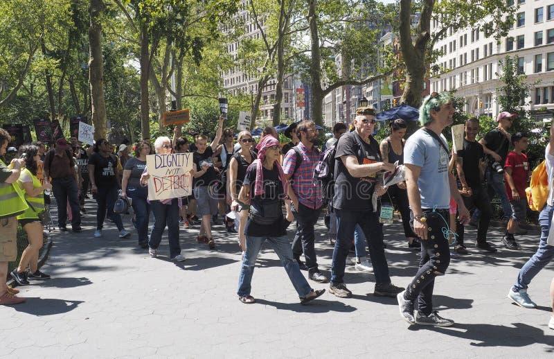 Cierre los campos protestan fotos de archivo libres de regalías