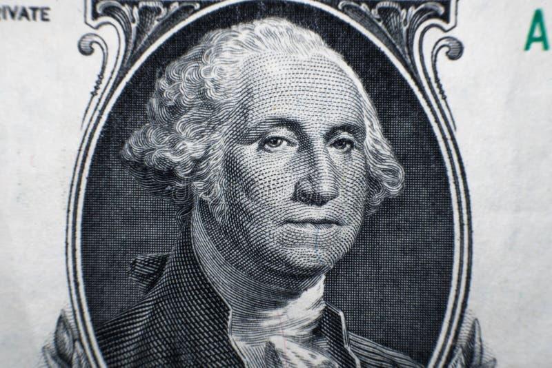 Cierre macro para arriba del billete de dólar de los E.E.U.U. 1 foto de archivo