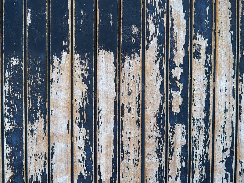 Cierre para arriba de los paneles de madera de madera viejos pintados azules foto de archivo