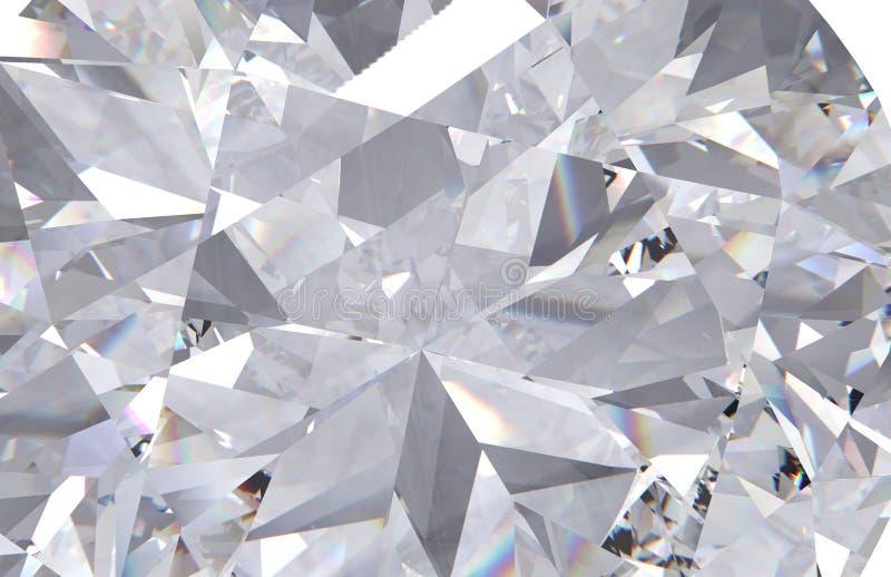 Cierre realista de la textura del diamante para arriba fotografía de archivo