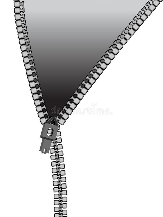 Cierre relámpago ilustración del vector