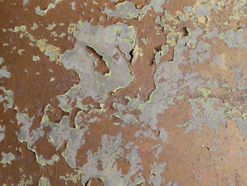 Cierre rojo de la textura del bronce oxidado viejo del metal para arriba fotos de archivo