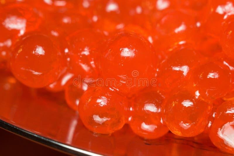 Cierre rojo del caviar para arriba fotografía de archivo libre de regalías