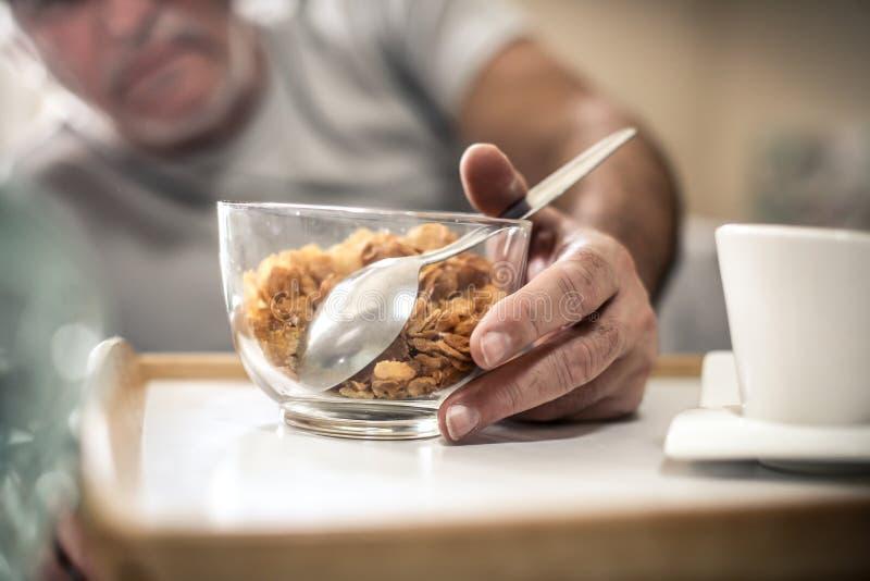 cierre sano del desayuno para arriba imagen de archivo