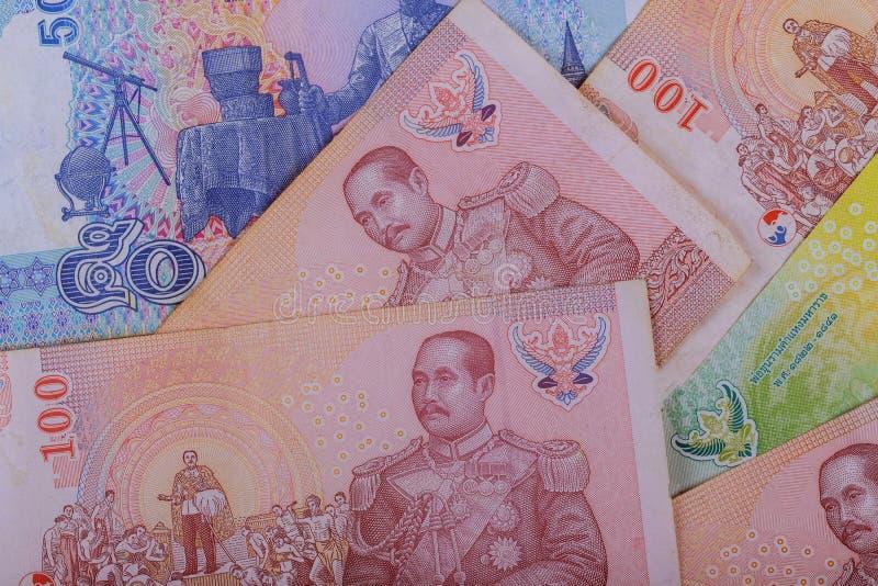 Cierre tailandés del baño para arriba del dinero con el dinero tailandés de la moneda fotos de archivo