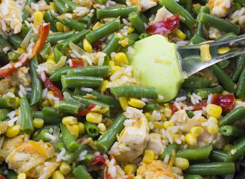 Cierre vegetal del guisado encima de la verdura fotografía de archivo libre de regalías