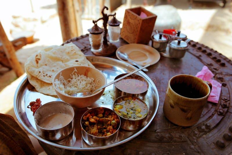 Cierre vegetariano indio de la comida para arriba foto de archivo libre de regalías