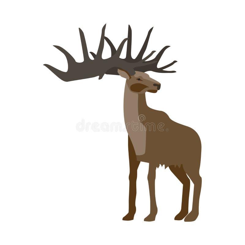 Ciervos animales prehistóricos stock de ilustración