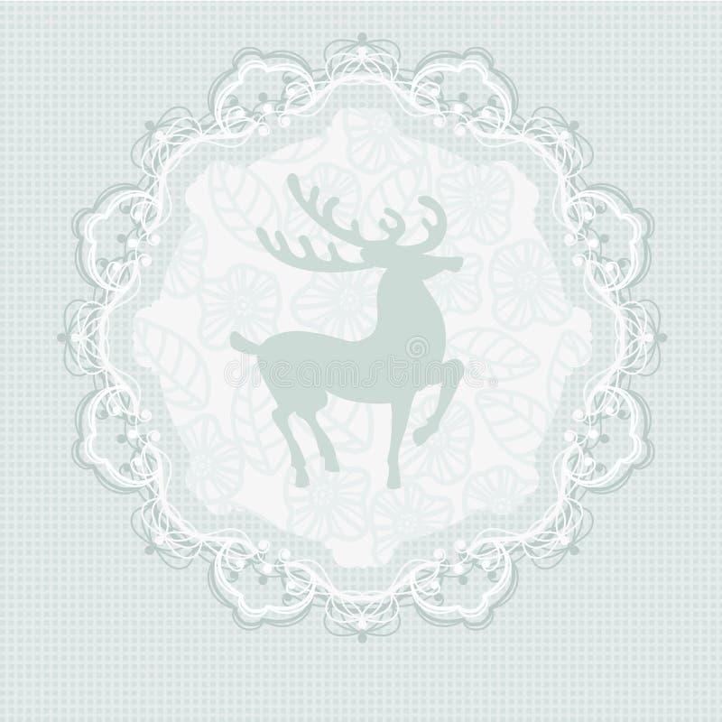 Ciervos azules ilustración del vector
