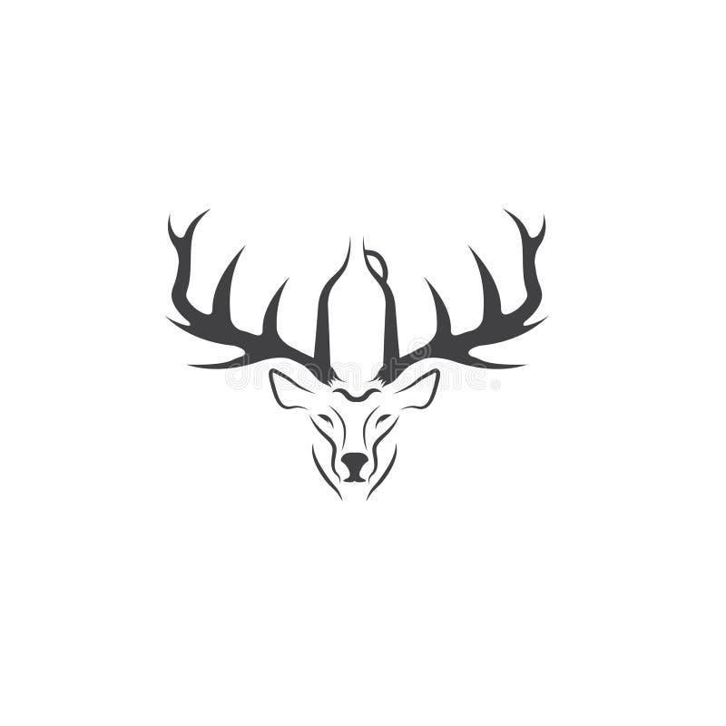 Ciervos con vector de espacio negativo el gruñidor libre illustration