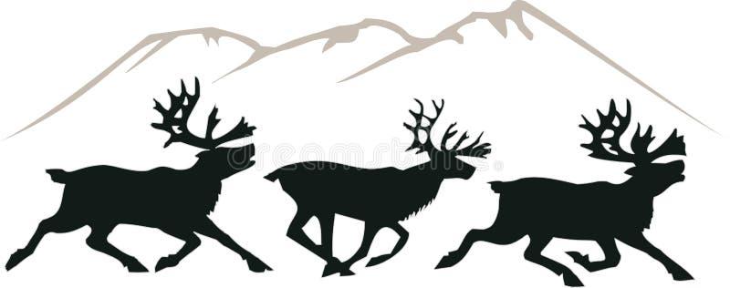 Ciervos corrientes stock de ilustración