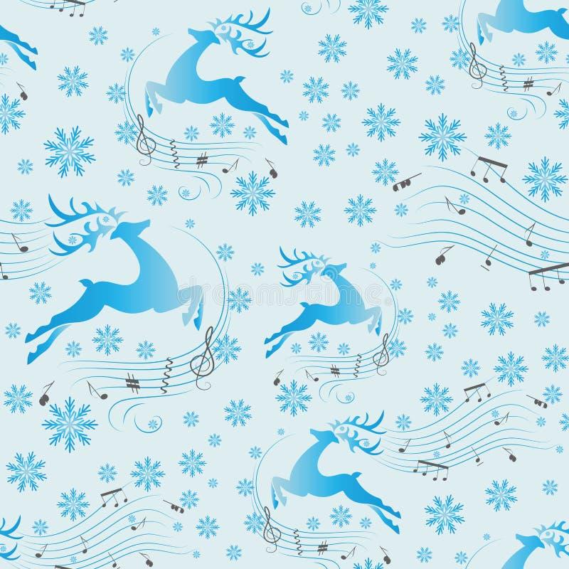 Ciervos corrientes Música del invierno libre illustration