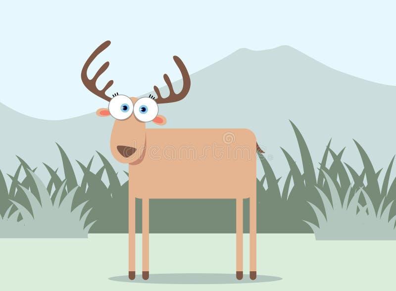 Ciervos de la historieta stock de ilustración