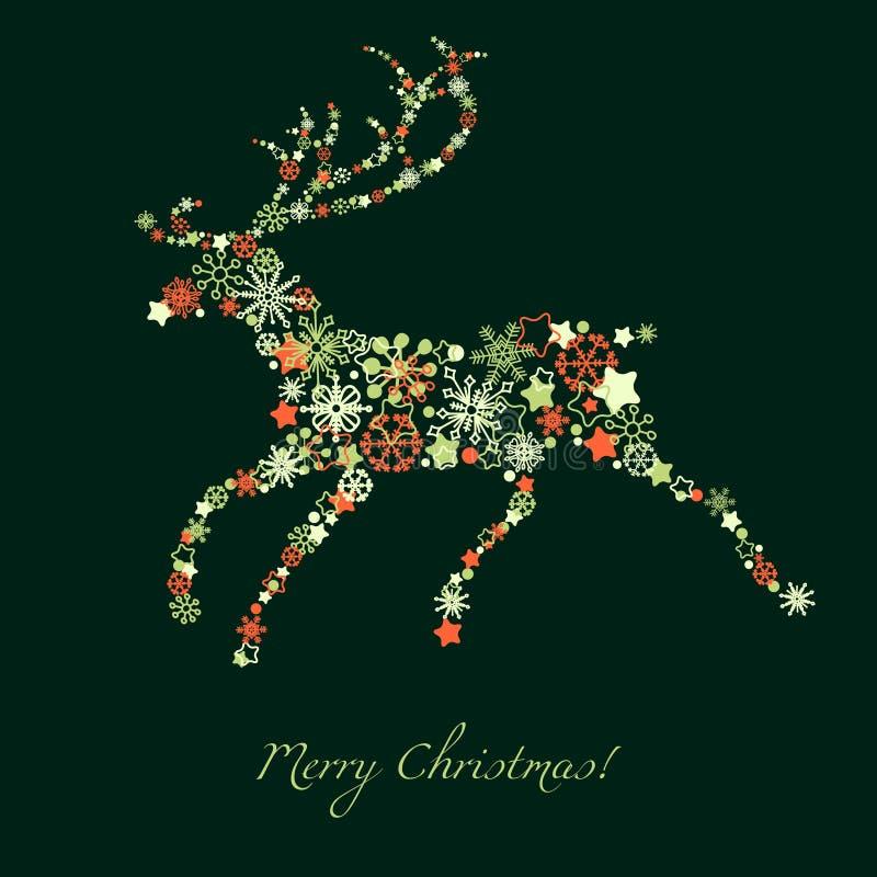 Ciervos de la Navidad ilustración del vector