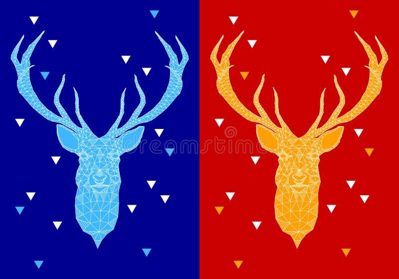 Ciervos de la Navidad con el modelo geométrico, vector libre illustration
