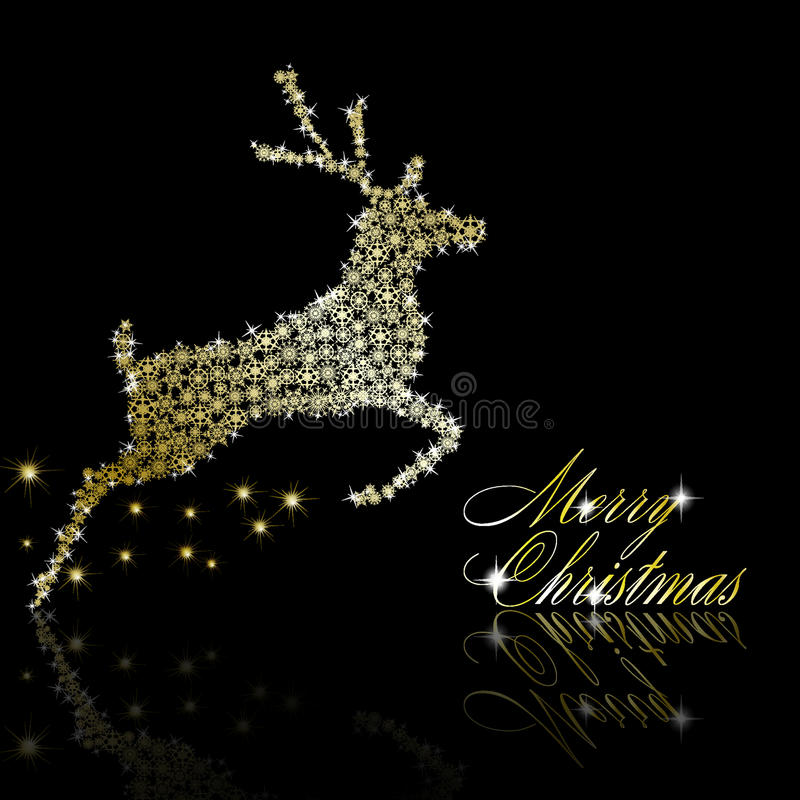 Ciervos de oro de la Navidad libre illustration
